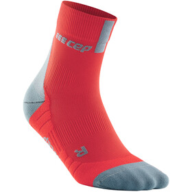 cep Short Socks 3.0 Uomo, rosso/grigio